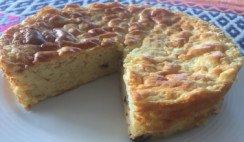Torta de arroz y naranja