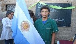 El pequeño maestro sanjuanino Nicanor inauguró su escuela