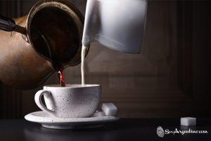 El famoso cafe con leche