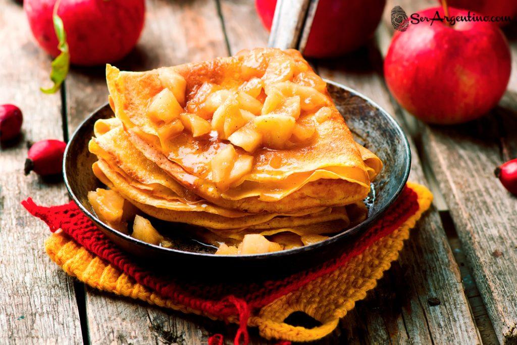 Panqueques de manzana