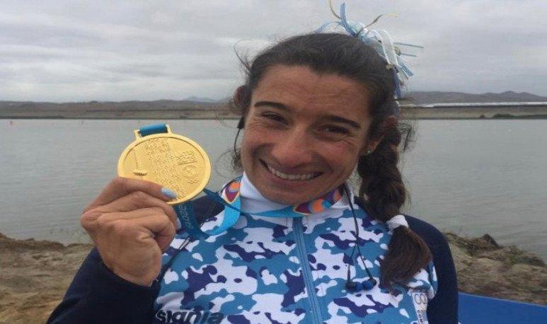 Sabrina Ameghino se convirtió en la primera palista argentina en ganar un oro