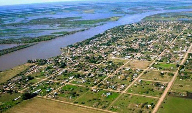 Vista aérea Puerto Gaboto