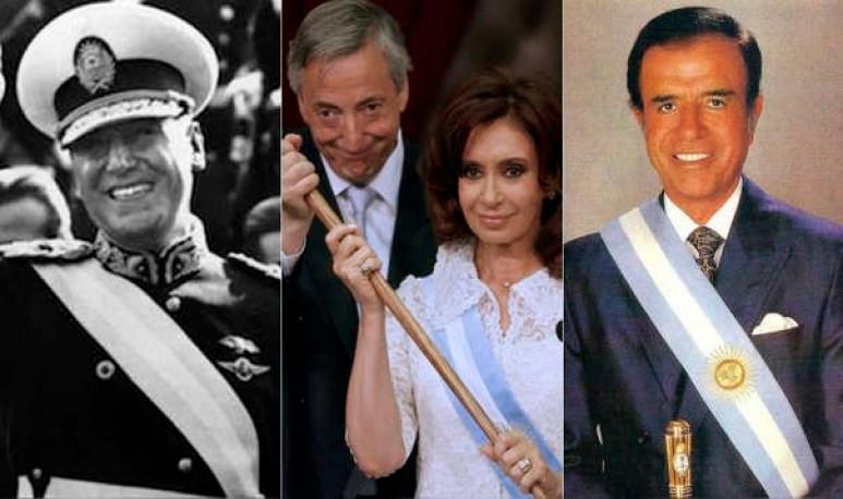 Néstor Kirchner. Cristina Fernández. Carlos Mene