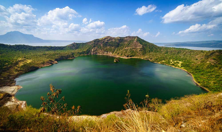 Taal volcano in the Philippines.