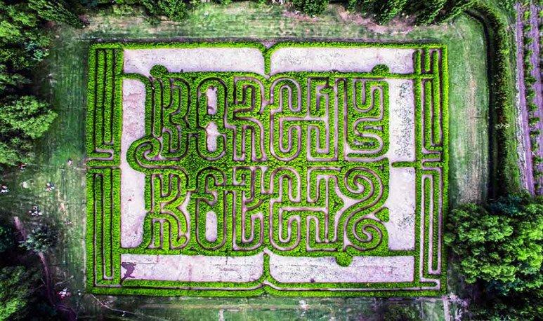 Laberinto de Borges desde el aire