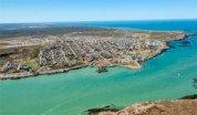 vista aerea de puerto deseado