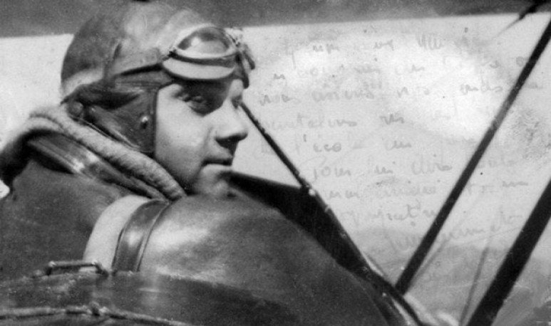 El joven montañés y el aviador francés