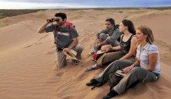 jóvenes en desierto de La Laguna del Rosario Mendoza