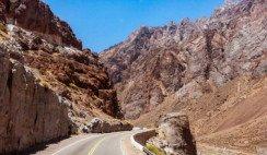 tramo de Ruta 7 en alta montaña Mendoza