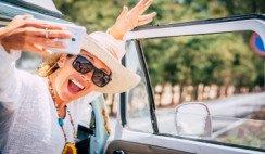 turista sacandose una selfie