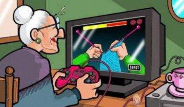abuela que teje