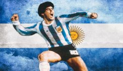 Primer gol de Maradona