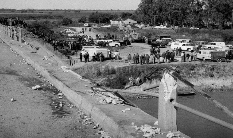 accidente sobre el Puente de Arroyo Leyes