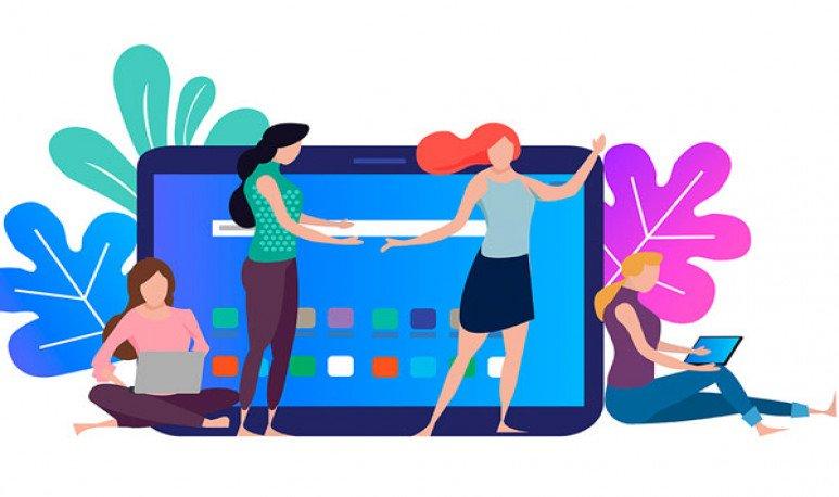 mujeres en las redes
